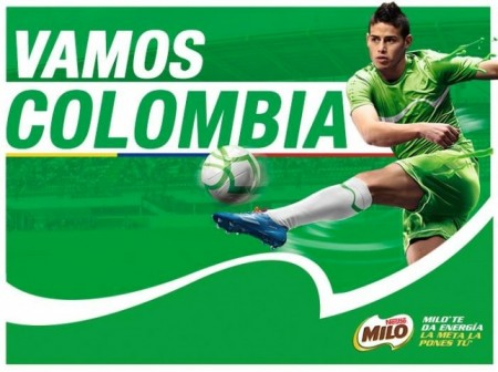 James Rodriguez For Nestlé